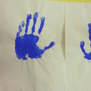Abi's handprint
