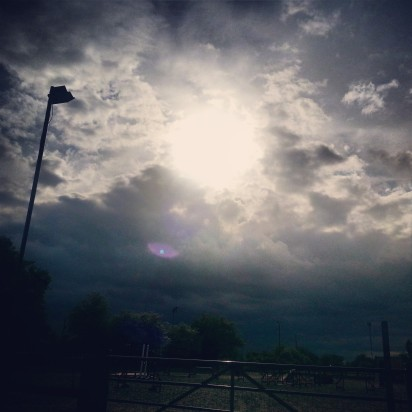 Sky over stables